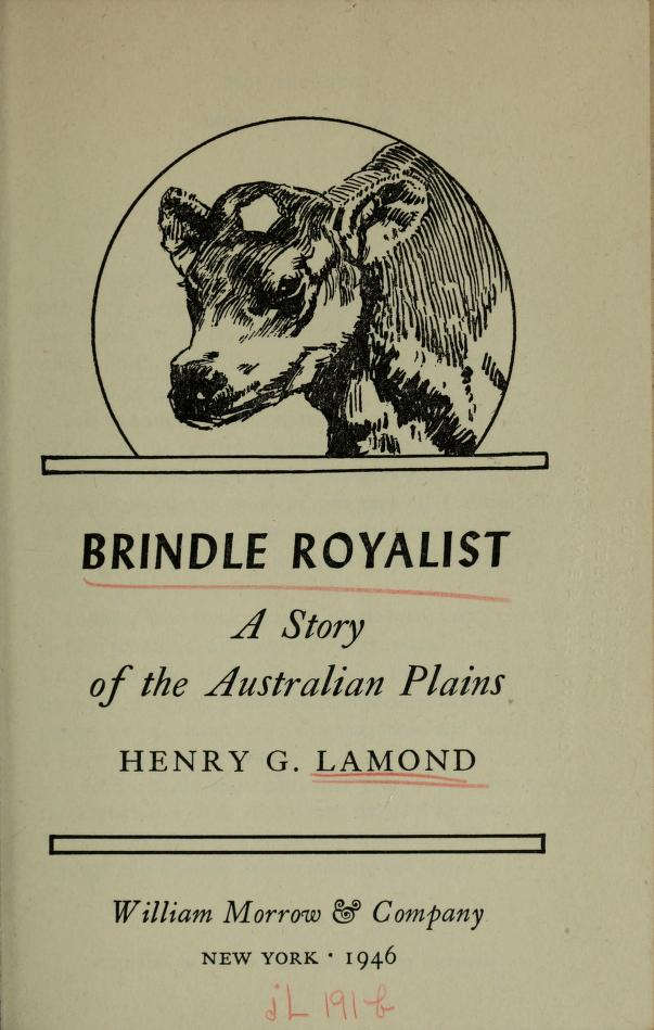 Brindle Royalist by Henry George Lamond